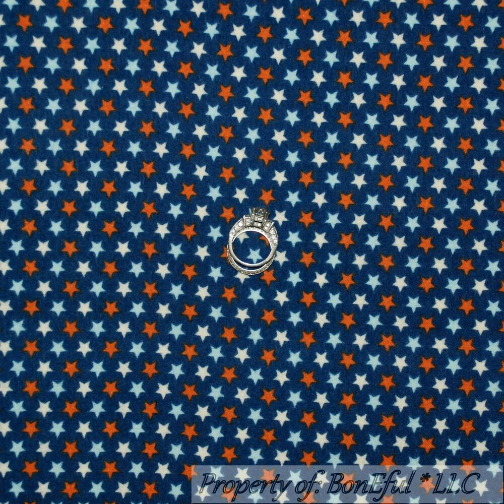 BonEful Fabric FQ Flannel Cotton Quilt Red White Blue
