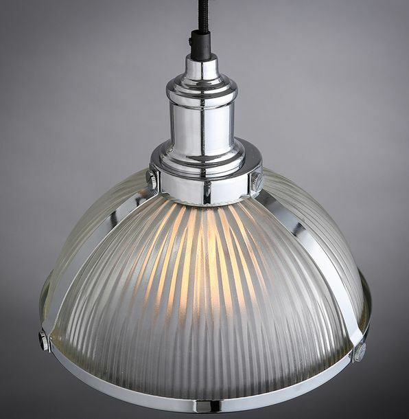 Vintage Industrial Glass Pendant Light: Vintage Industrial DIY Copper Ceiling Lamp Light Metal