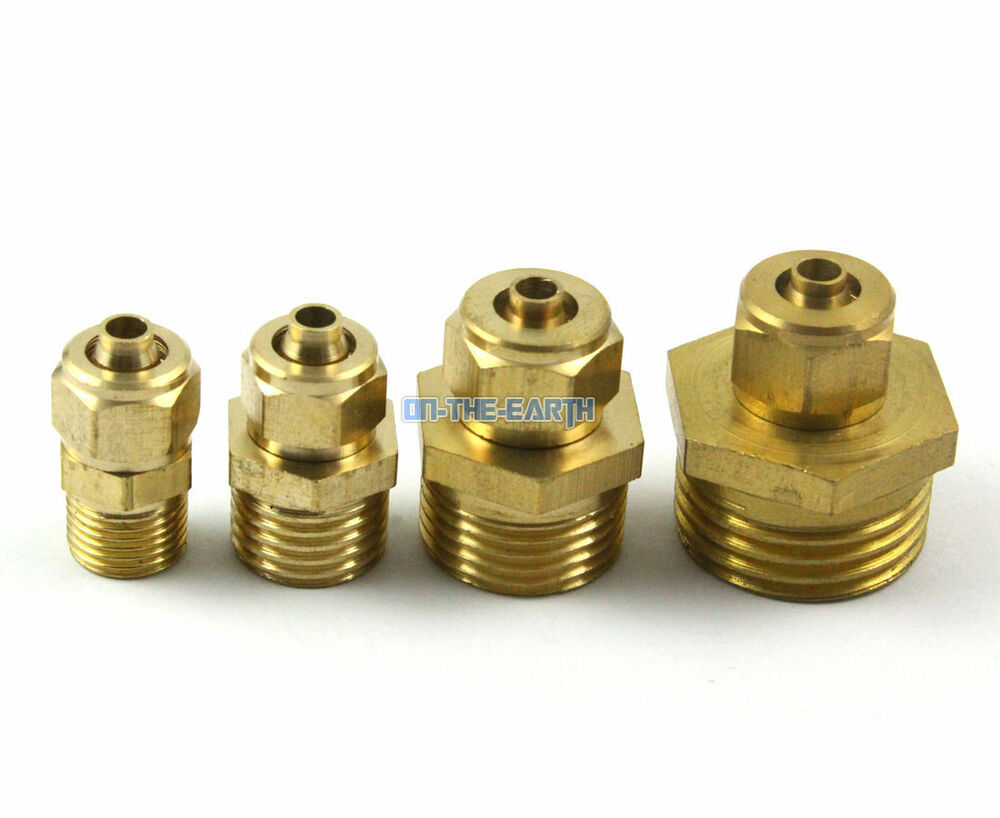 5 pieces 6mm 1 2 bsp male brass pneumatic pipe hose coupler connector fitting ebay. Black Bedroom Furniture Sets. Home Design Ideas