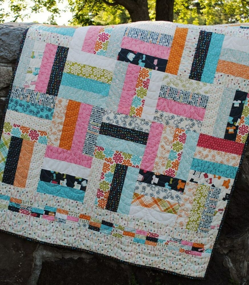 Layer Cake Quilt Patterns Easy : Quilt Pattern for Jelly Roll, Layer Cake or Fat Quarters ...