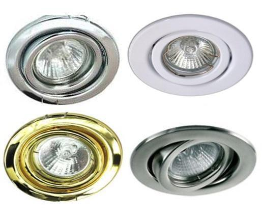 Mains 240V GU10 LED Tilt Ceiling Light Spotlights Downlights Recessed  Fitting | eBay