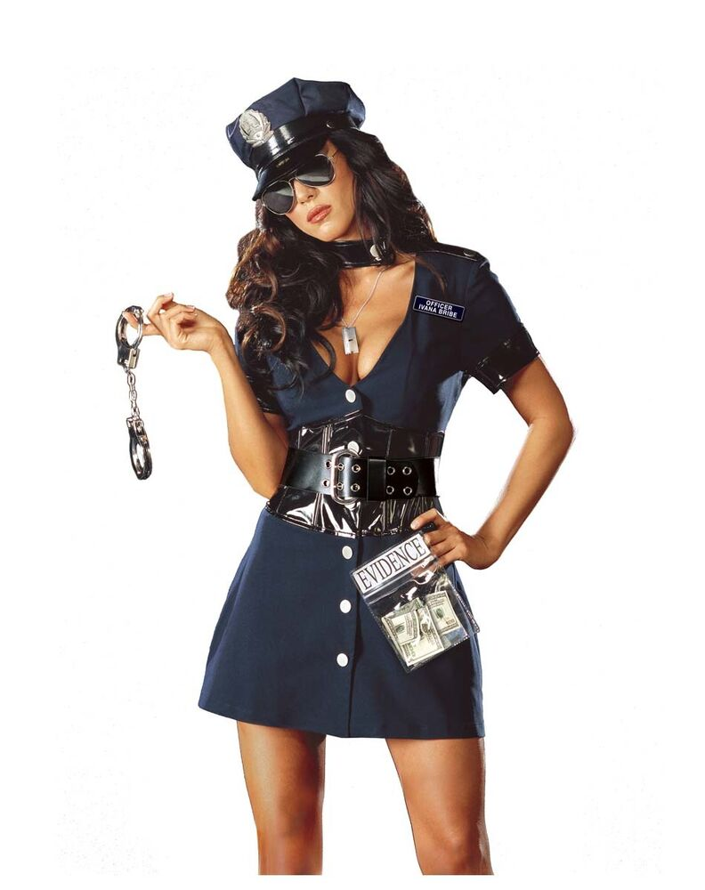Sexy Police Officer Costume From Dreamgirl - Size Medium -5587