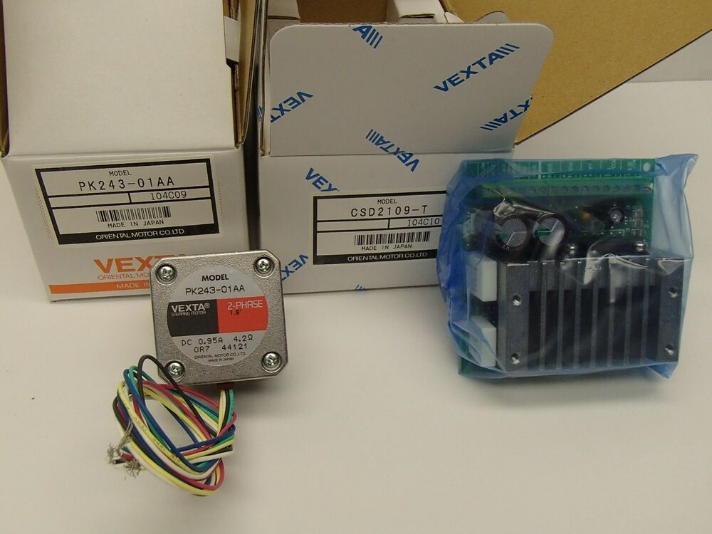 Vexta csk243ata 2 phase stepper motor system csd2109 t for Stepper motor control system