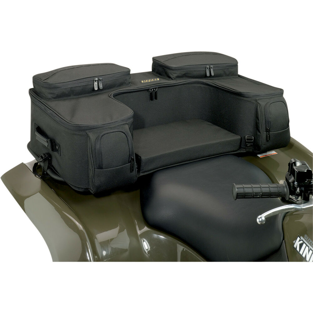 new moose ozark black atv rear rack bag rack pack atv