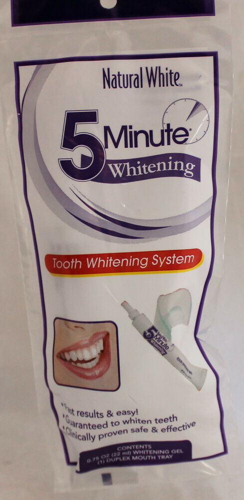 Natural White 5 Minute Tooth Whitening System Five Min