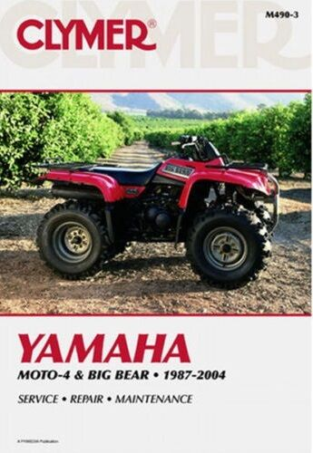 clymer service repair manual m490 3 yamaha big bear 350. Black Bedroom Furniture Sets. Home Design Ideas