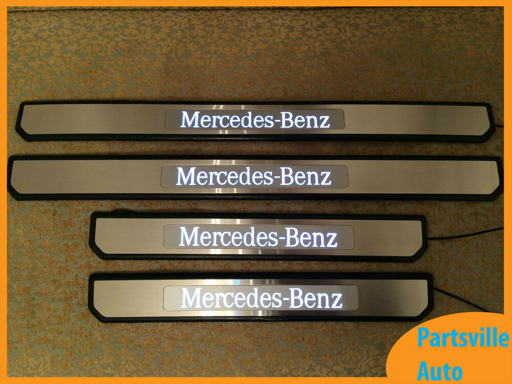 Mercedes benz e class w212 sedan illuminated lit door for Mercedes benz door sill