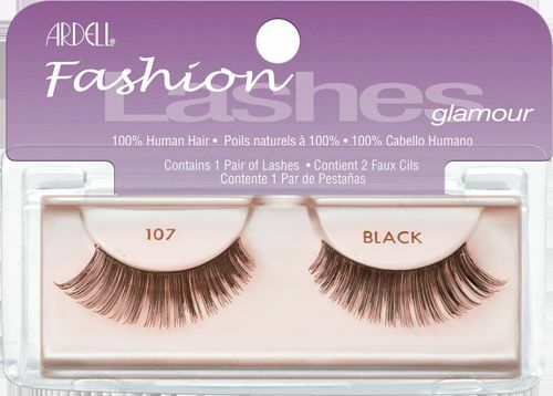 da13f1812d6 ... Ardell Fashion Lashes: Ardell 107 Fashion Lashes Glamour (Black) 100%  Human Hair
