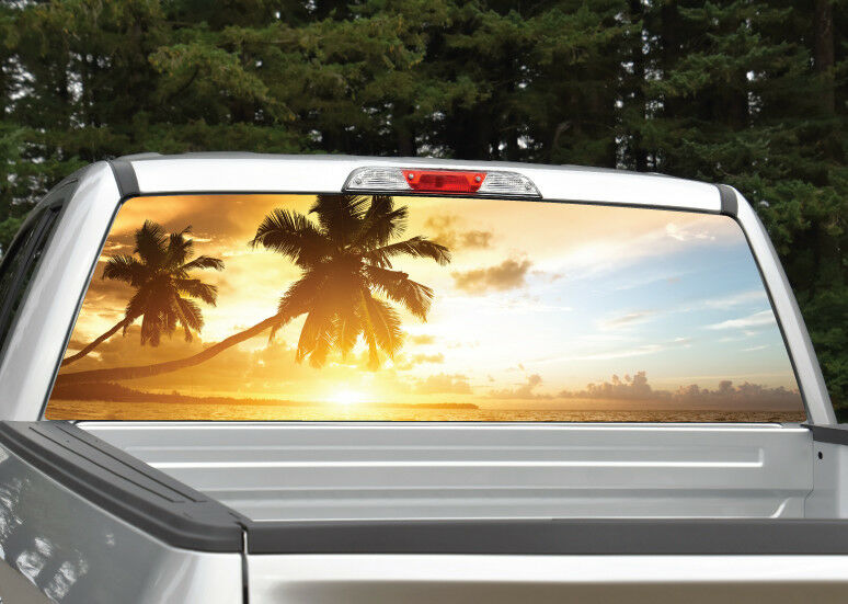 Beach Sunset Rear Window Decal Graphic For Truck Suv Van