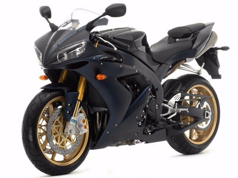 Matte black w gold fairing bodywork injection for 2004 for Yamaha r1 deals