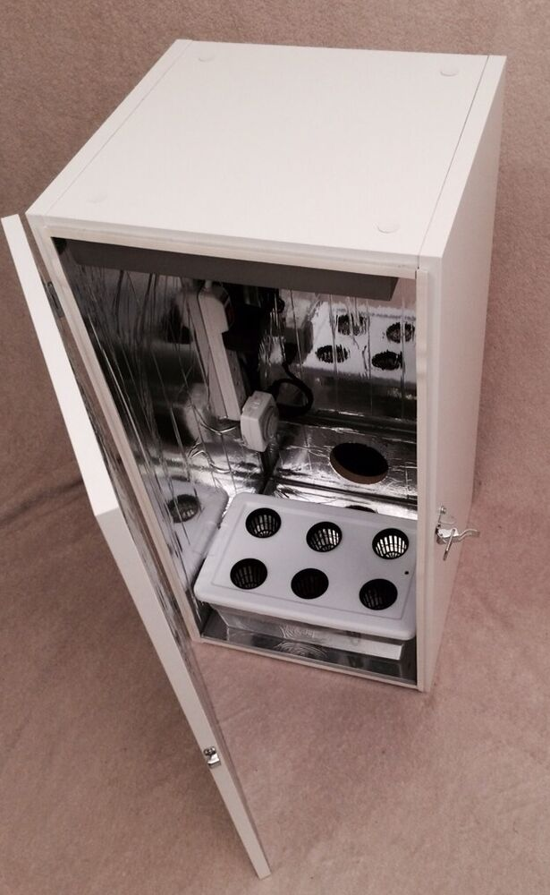 hydroponic grow box 6 site led grow system ebay. Black Bedroom Furniture Sets. Home Design Ideas