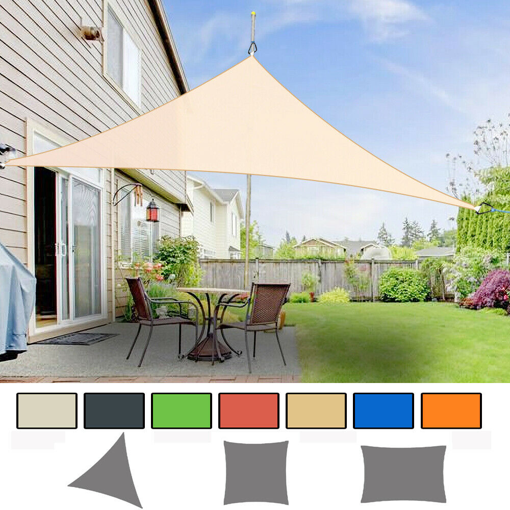 Sun Shade Sail Garden Patio Awning Canopy Sunscreen 98% UV