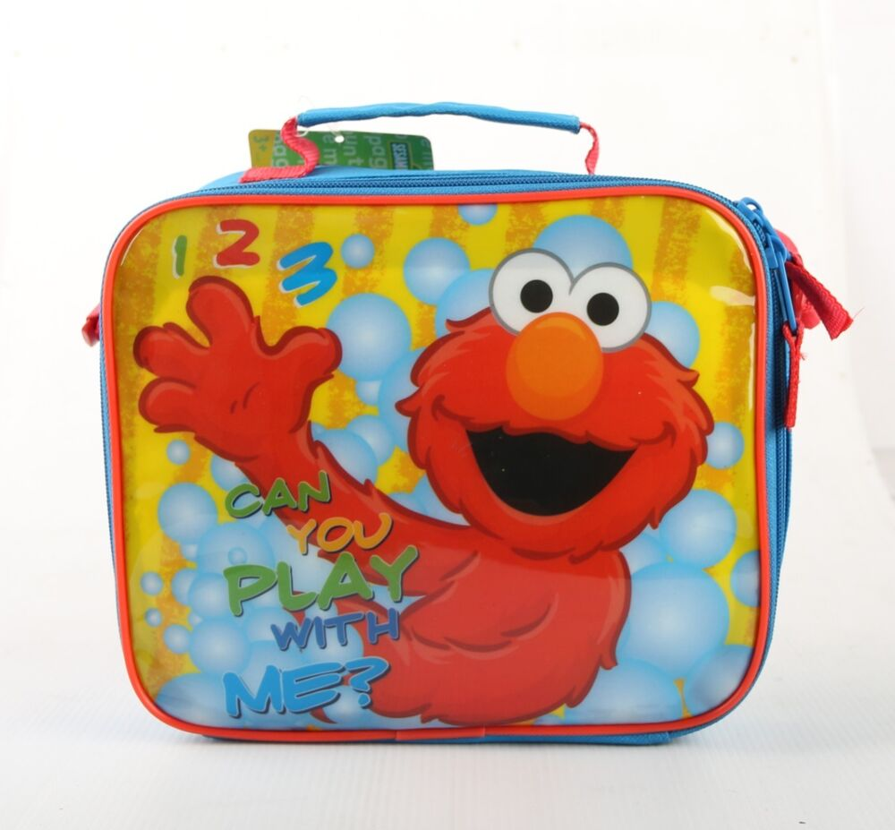 2016 new sesame street boys insulated lunch bag and snack. Black Bedroom Furniture Sets. Home Design Ideas