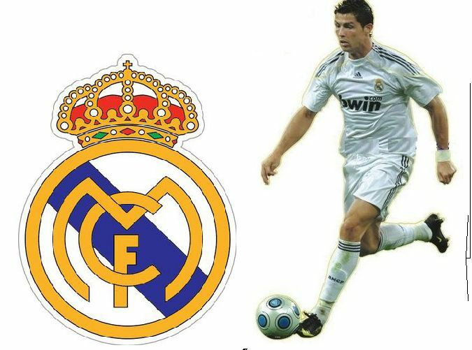 Cristiano ronaldo in white real madrid soccer sports x2 for Cristiano ronaldo wall mural