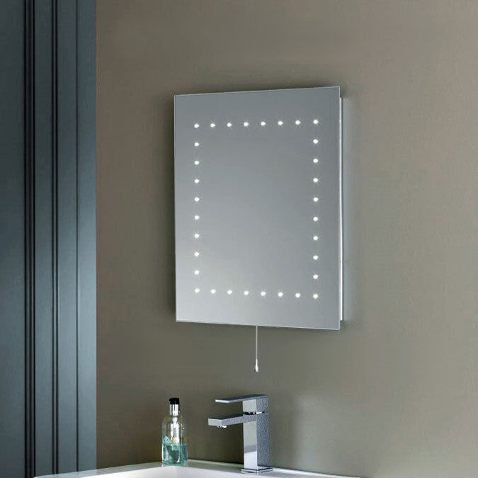 Modern IP44 LED Illuminated Bathroom Cosmetic Mirror Light with Pull Switch NEW eBay
