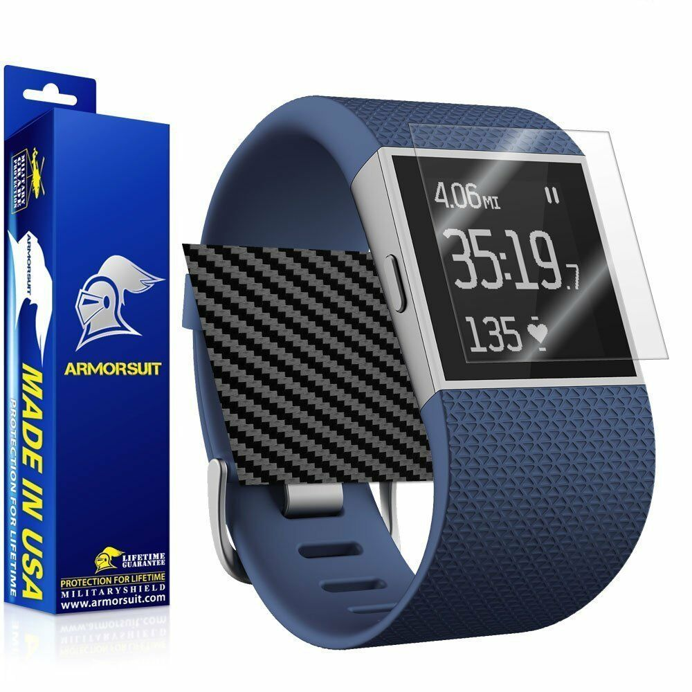 Armorsuit fitbit surge fitness superwatch screen protector black