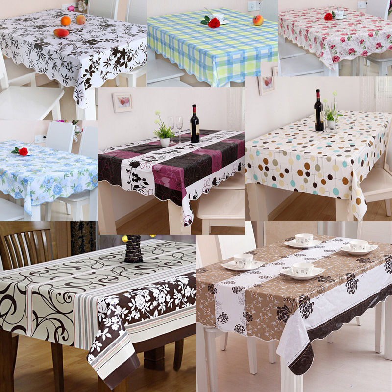 clean pvc vinyl tablecloth dining kitchen table cover sizes ebay
