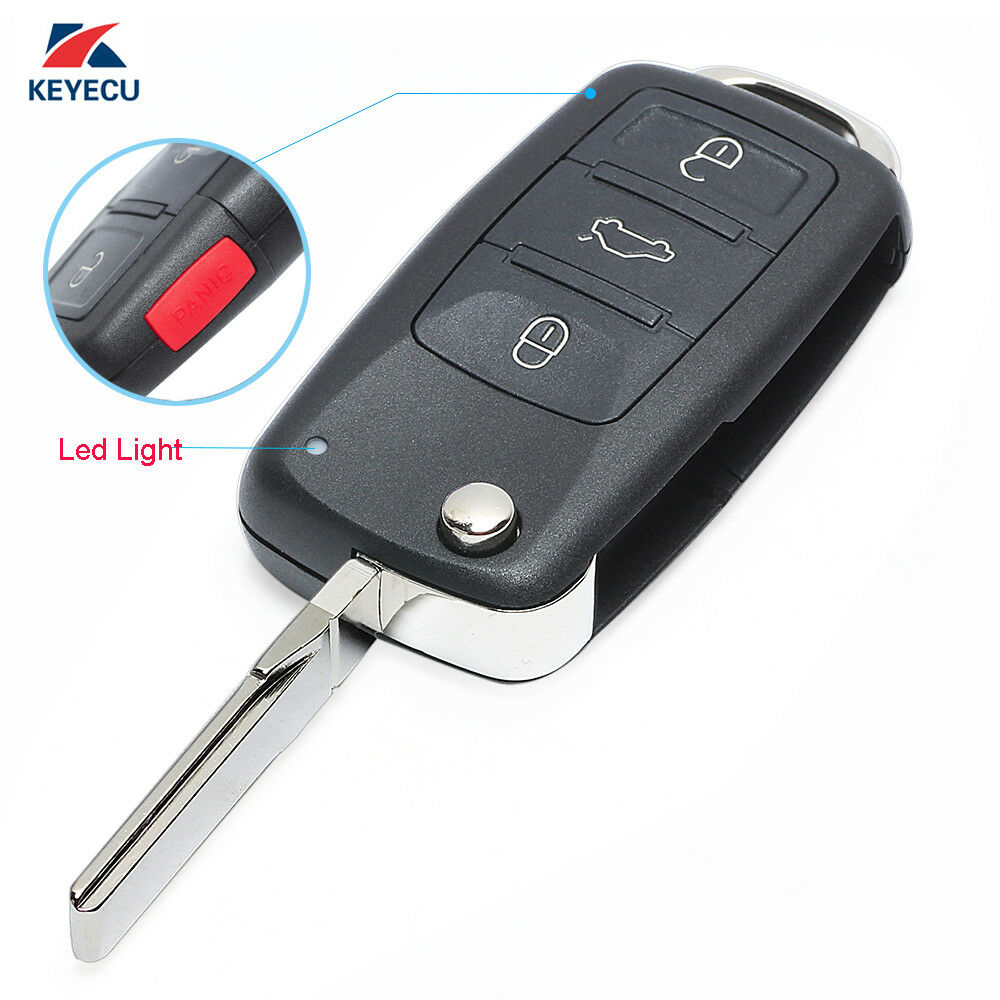 keyless flip remote key fob 3 1 button 315mhz id46 chip for volkswagen touareg ebay. Black Bedroom Furniture Sets. Home Design Ideas