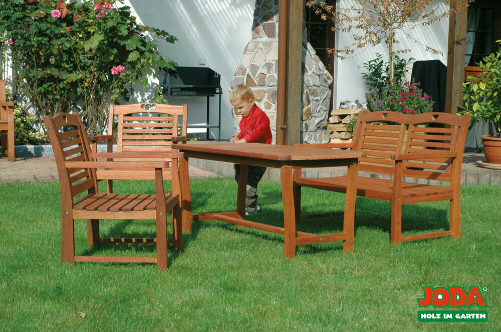 joda kinder gartenm bel aus eukalyptus holz ge lt ebay. Black Bedroom Furniture Sets. Home Design Ideas