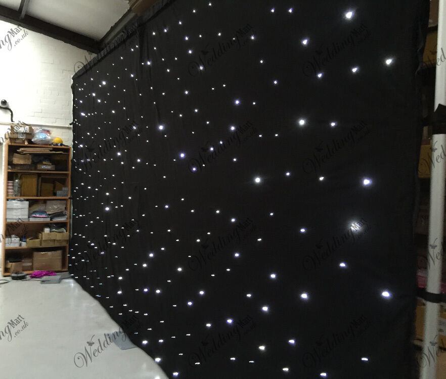 20ftx10ft Black Led Wedding Starlight Backdrop Curtain For