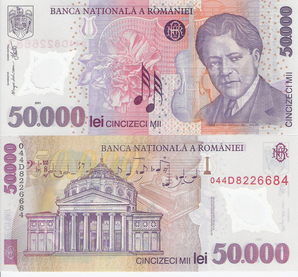 ROMANIA 50000 Lei Banknote World Money Currency Bill Europe p113 Polymer Note | eBay