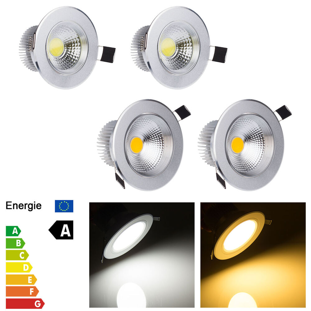 Brightest Recessed Lighting Bulbs : Bright dimmable w cob led ceiling recessed spot