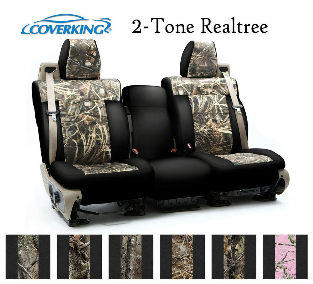 Coverking Custom Seat Covers Neosupreme Front Row 2 Tone Realtree Camo Ebay