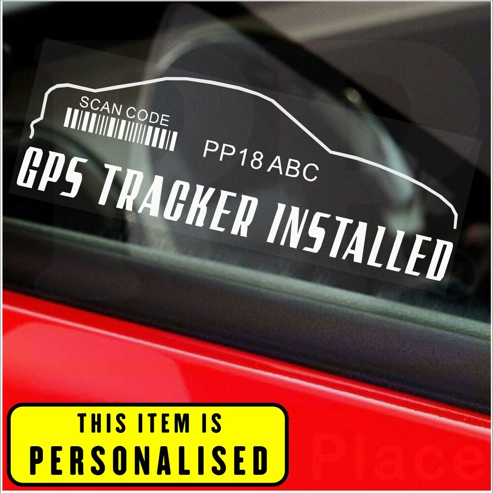 2 x gps tracker system security window warning stickers alarm device sign car ebay. Black Bedroom Furniture Sets. Home Design Ideas