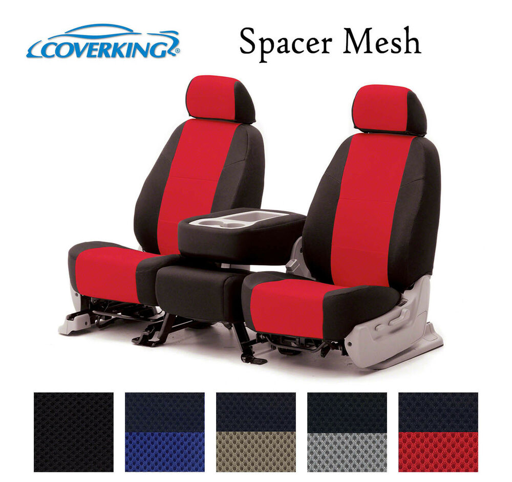 coverking custom seat covers spacer mesh front row 5 color options ebay. Black Bedroom Furniture Sets. Home Design Ideas