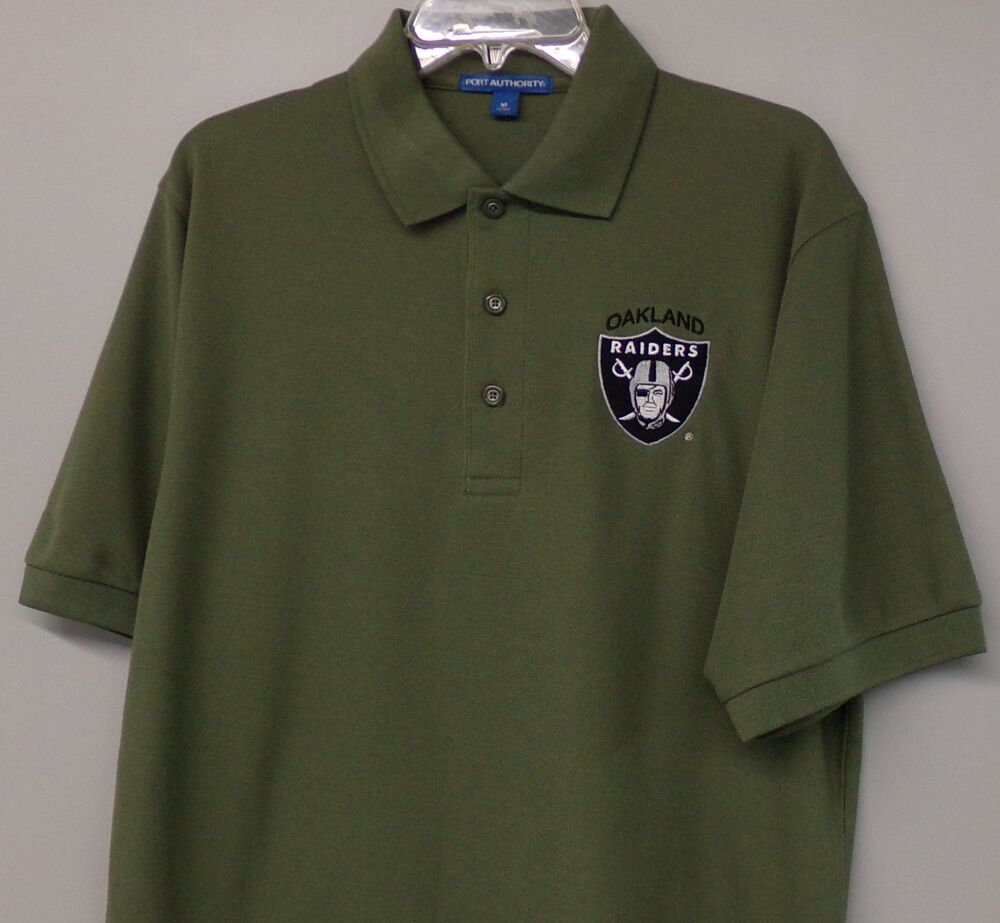 Nfl Oakland Raiders Mens S 6xl Embroidered Polo Shirts