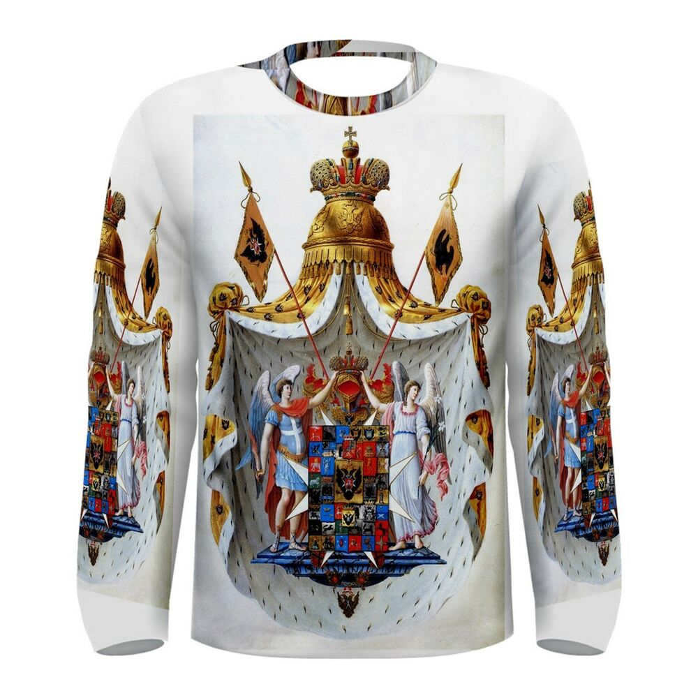 Russian Coat Of Arms Sublimated Men 39 S Long Sleeve T Shirt