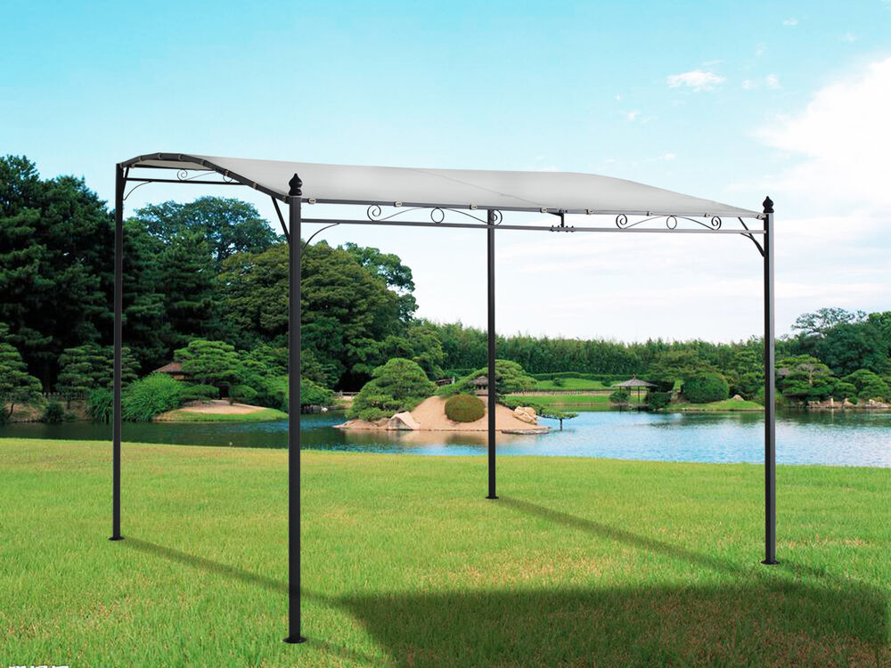 Metal Wall Gazebo Awning Canopy Pergola Shade Marquee ...