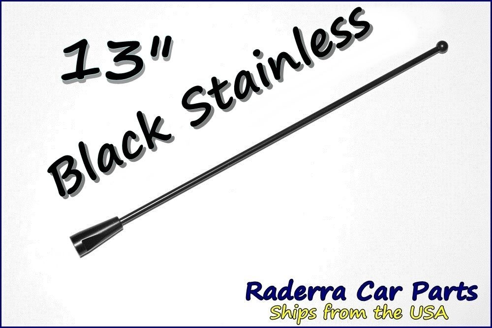 13 u0026quot  black stainless am fm antenna mast fits  2002 jeep