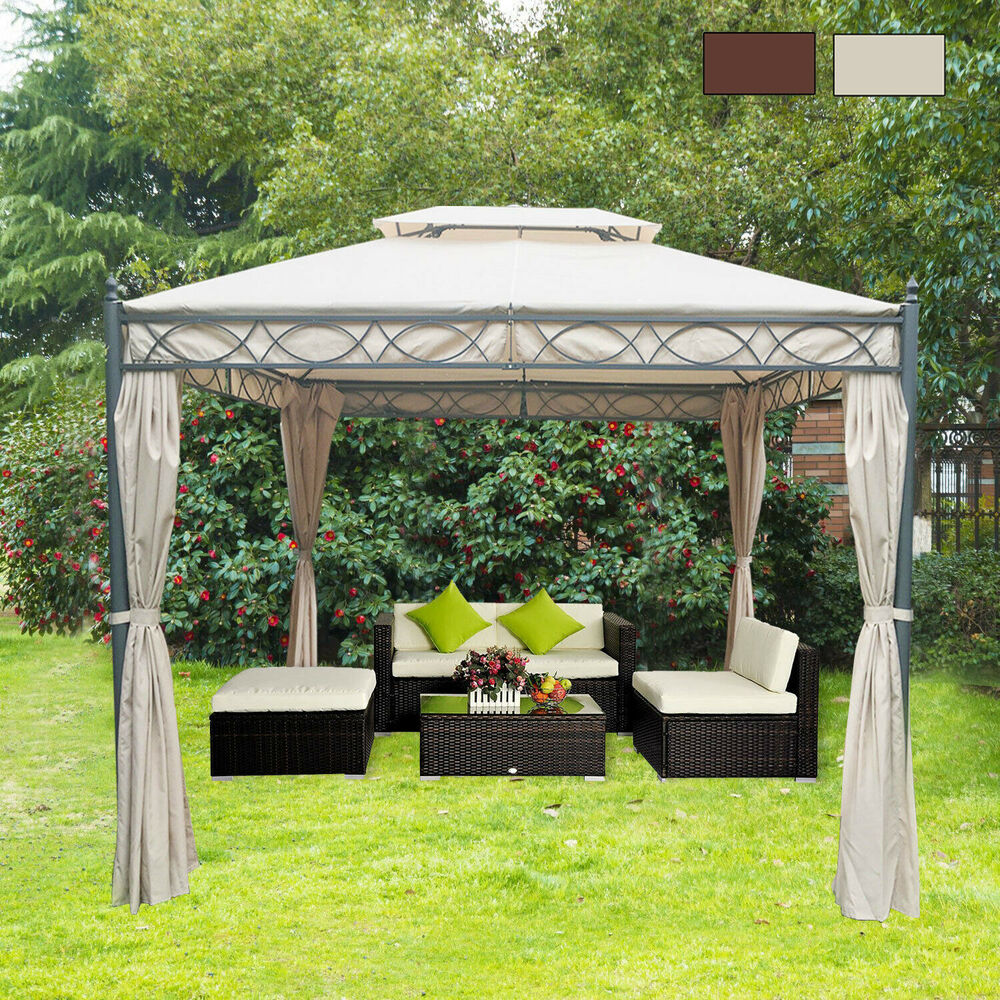 3 x 3m metal gazebo awning canopy sun shelter pavilion marquee party tent ebay. Black Bedroom Furniture Sets. Home Design Ideas