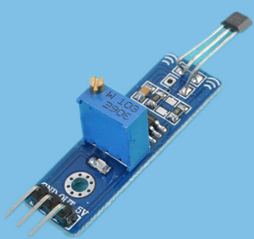 Hall element switch for arduino magnetic detect car mega