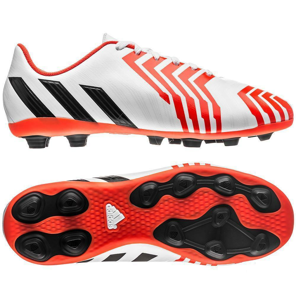 aa746b093e3a Details about Adidas Predito Instinct FxG Junior Kids Football Trainers  Boots White & Crimson