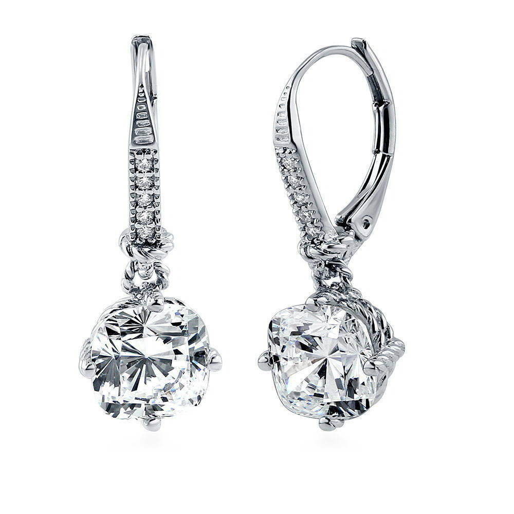 what are leverback earrings berricle sterling silver cz statement leverback dangle 5910