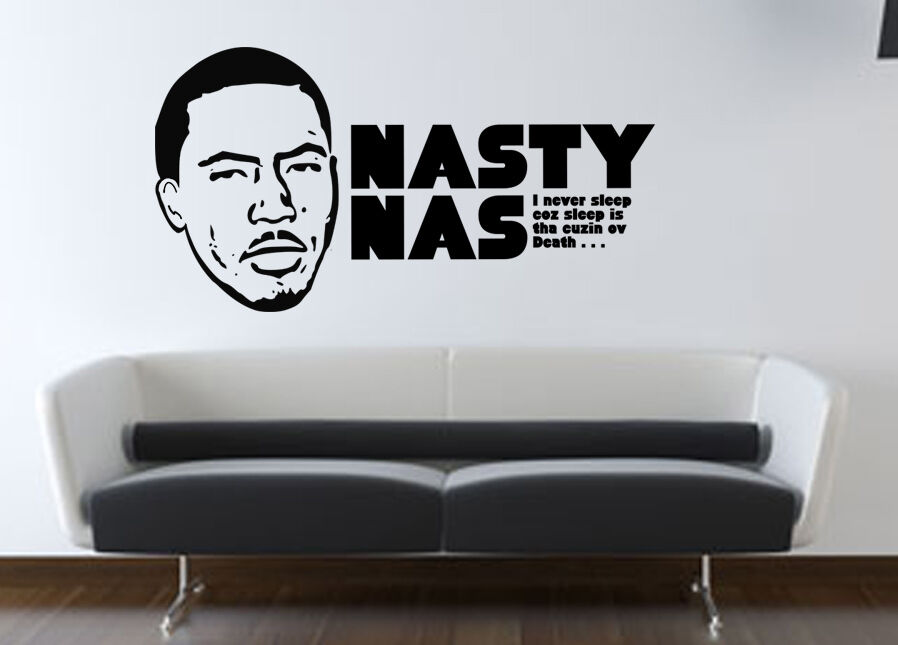 Nas Wall Decal Illmatic Art Decal Sticker Quote Shirt Hip