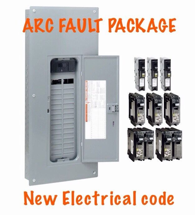 200 amp Electrical Panel Square D Homeline ARC Fault Breaker Code ...