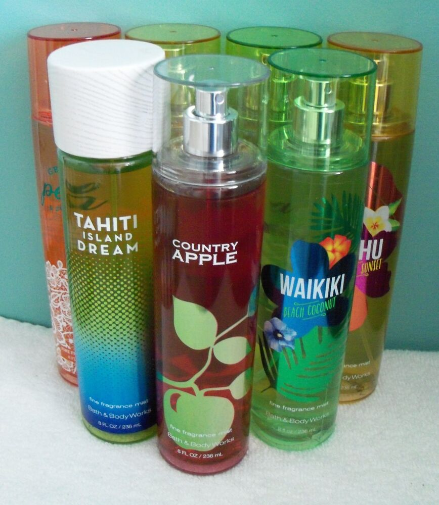 Bath body works fine fragrance mist 8 oz ebay for Bathroom body works