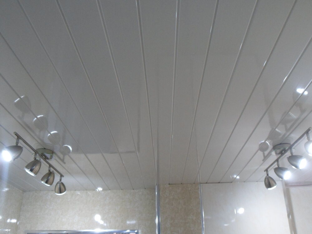 45 Twin White V Groove Waterproof Pvc Bathroom Cladding Shower Wall Panels Ebay