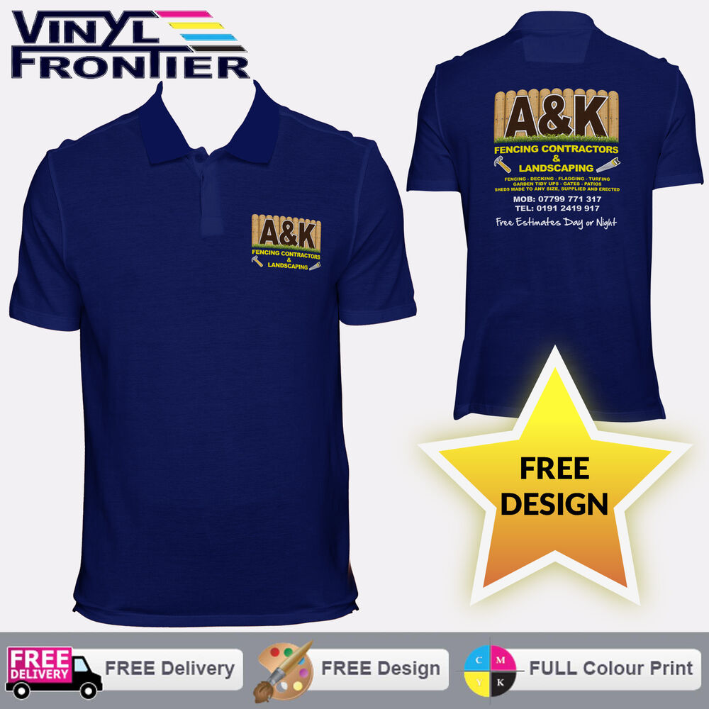 7b0ec2a5d Details about Custom Printed Polo Shirts - Personalised Workwear Polo Shirts