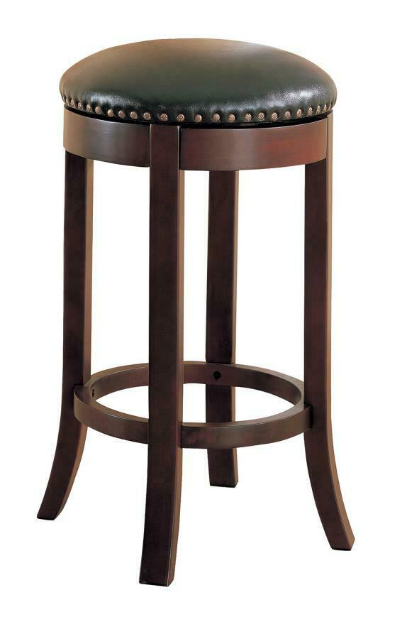 walnut finish backless 29 inch seat bar stool by coaster 101060 set of 2 ebay. Black Bedroom Furniture Sets. Home Design Ideas