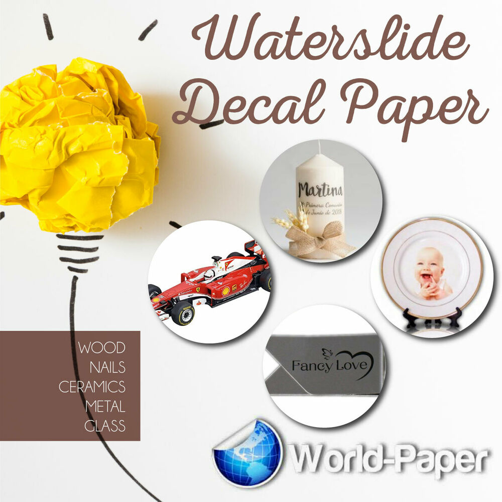 Waterslide decal transfer paper for art and crafts clear for Diy tattoo transfer paper
