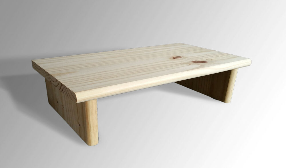 L k monitor stand pine quot unfinished tv