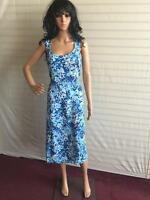 New Simply Be Ladies Dress Length 45 inch Size 12 UK Blue Print