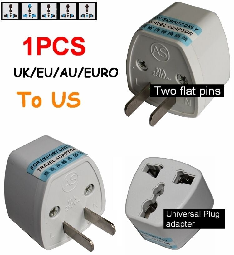 Uk Eu Au Euro Universal To Us Ac Power Plug Travel Adapter