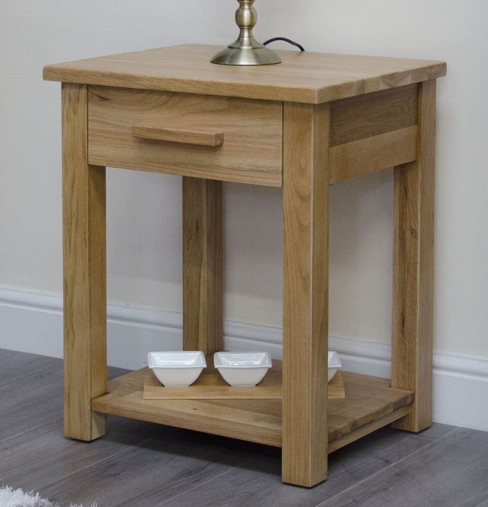 Arden Solid Oak Furniture Storage Side End Lamp Table Ebay