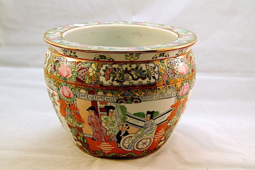 antique chinese porcelain fish bowl 19th century nr ebay