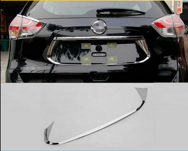 Abs Chrome Rear License Plate Frame Cover For Nissan Rogue